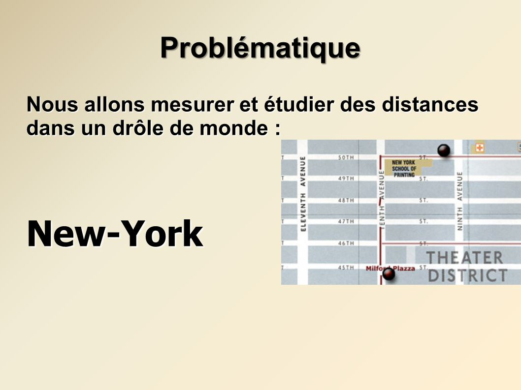 New-York Problématique