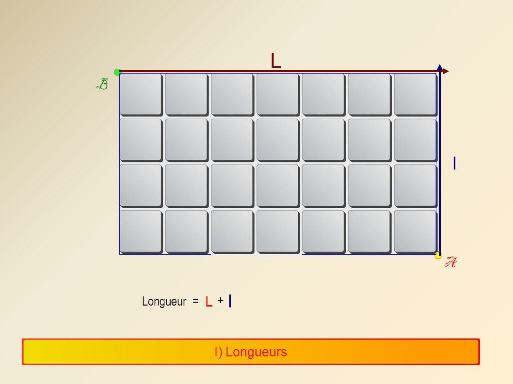 L B l A l Longueur = L + I) Longueurs 7 7