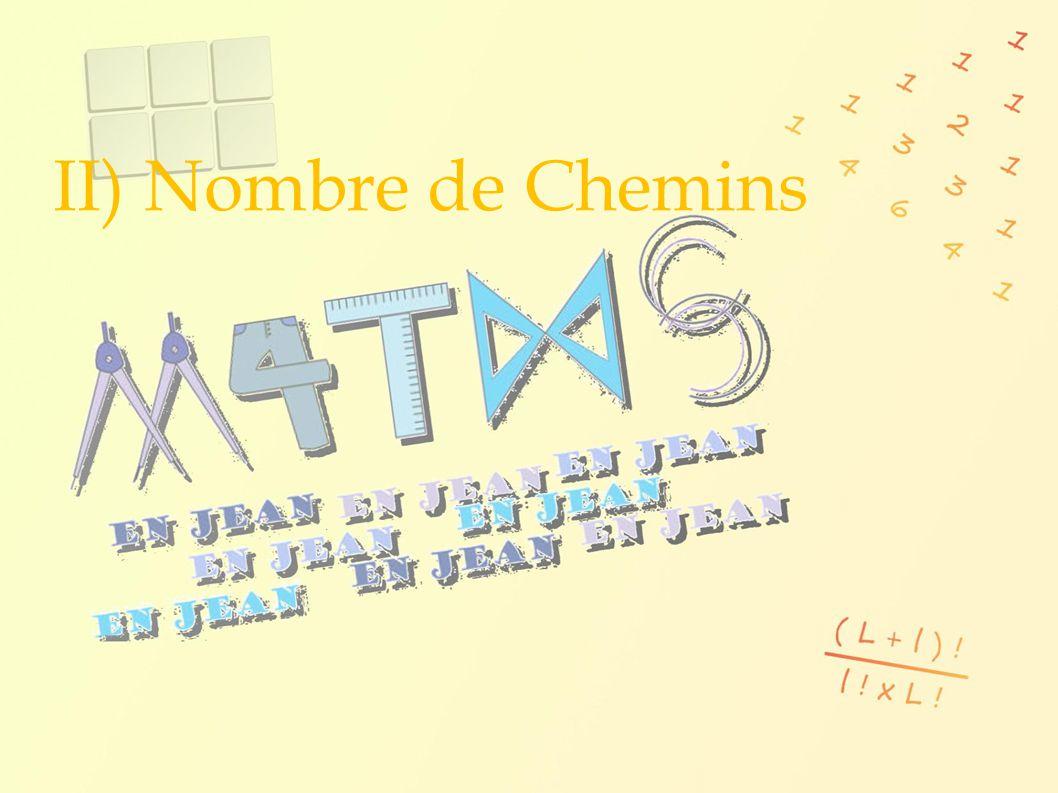 II) Nombre de Chemins 8 8