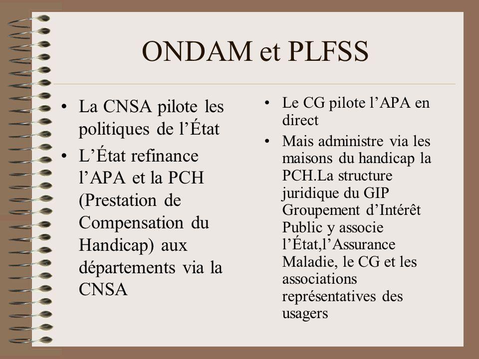 ONDAM et PLFSS La CNSA pilote les politiques de l'État