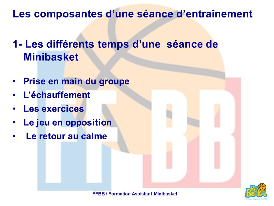 FFBB / Formation Assistant Minibasket