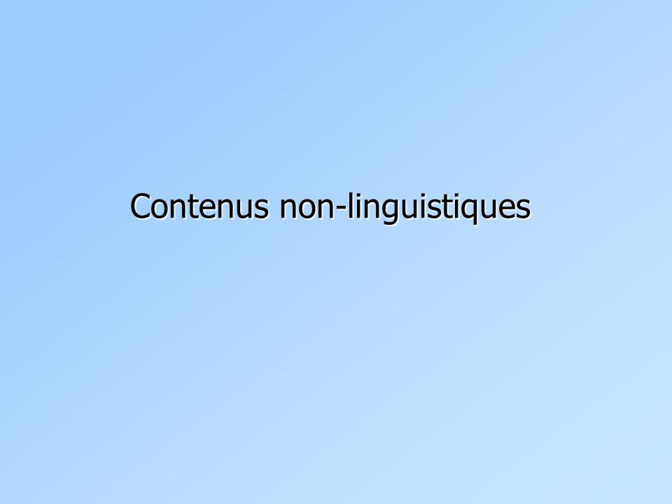 Contenus non-linguistiques