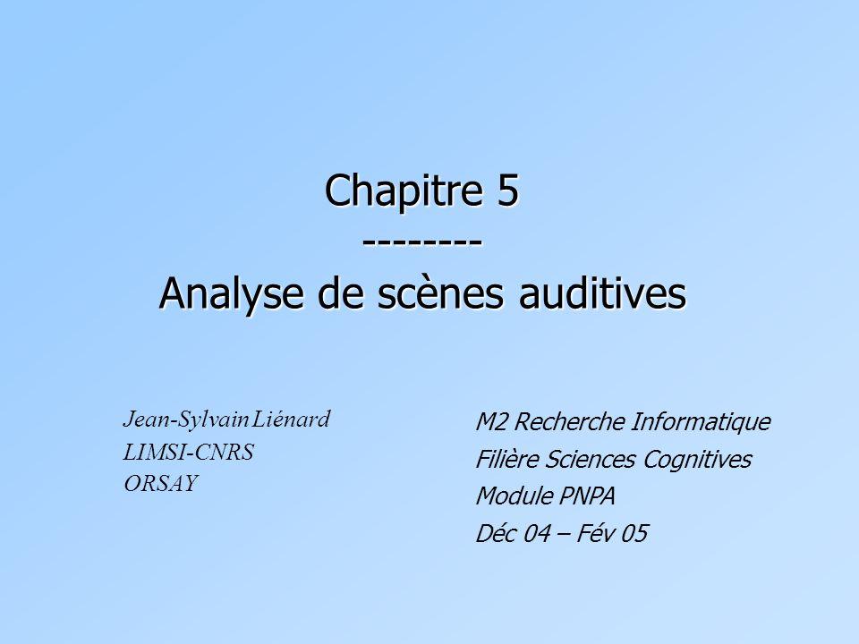 Chapitre 5 -------- Analyse de scènes auditives