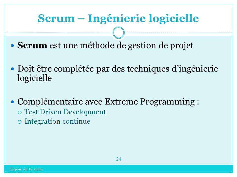 Scrum – Ingénierie logicielle