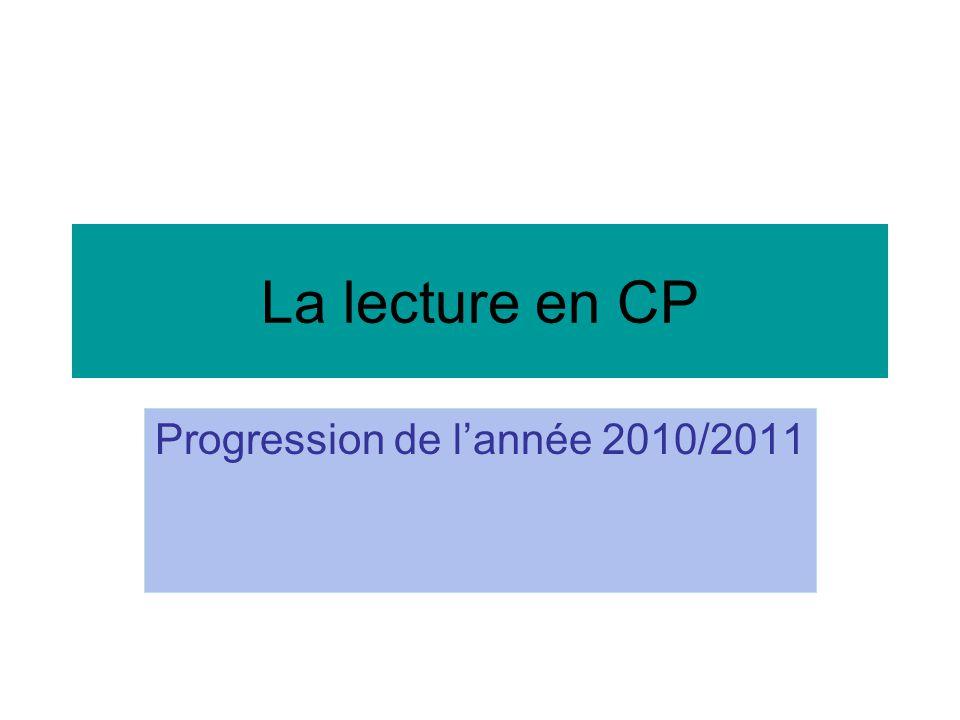 Progression de l'année 2010/2011