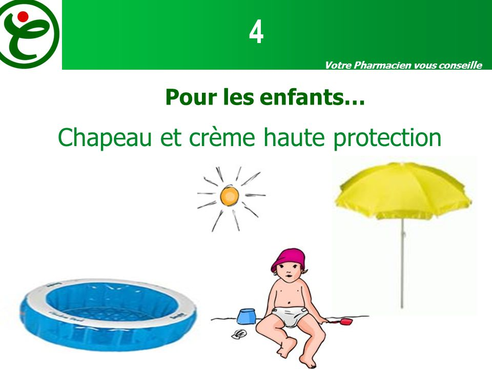 Chapeau et crème haute protection