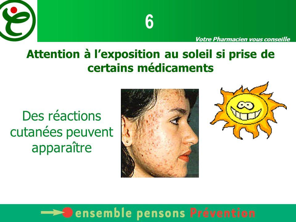 Attention à l'exposition au soleil si prise de certains médicaments