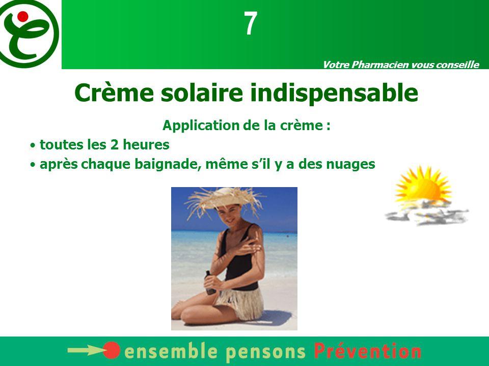 Crème solaire indispensable