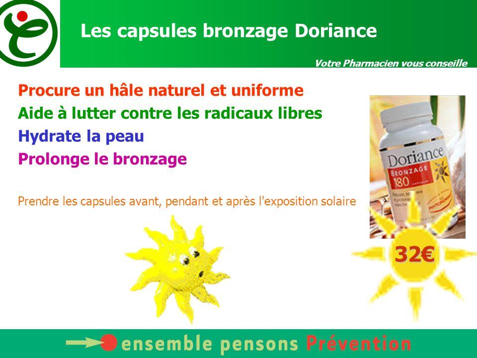 Les capsules bronzage Doriance