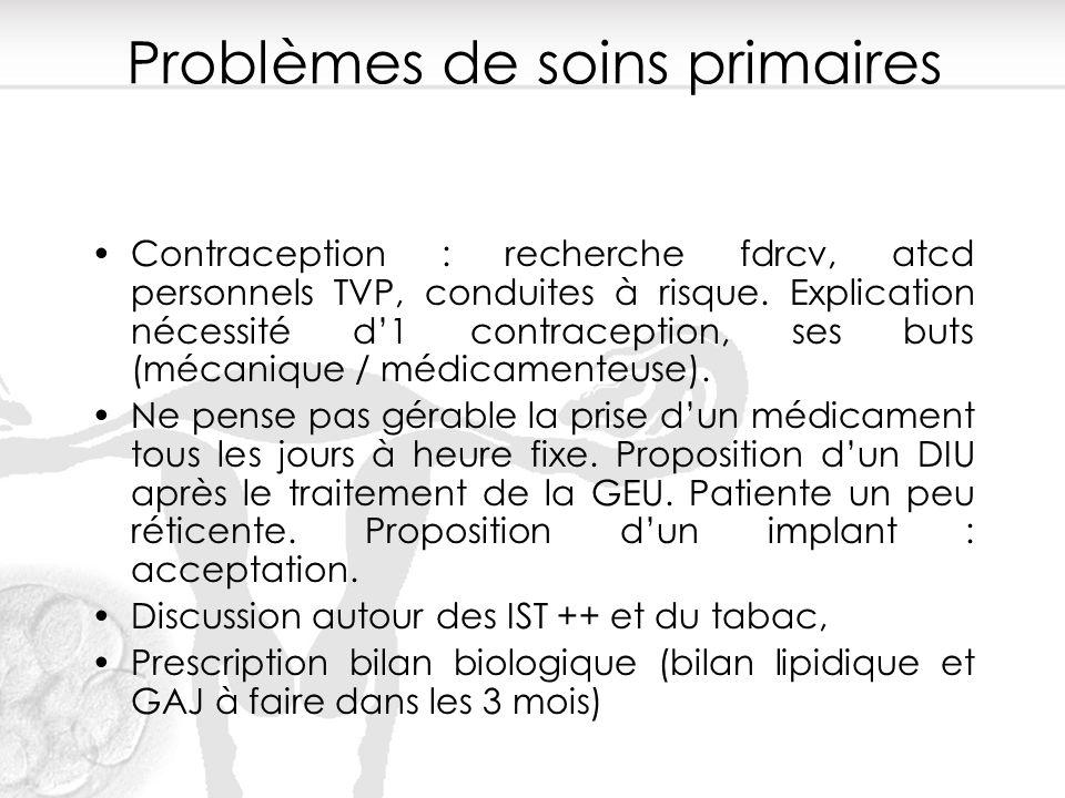 Problèmes de soins primaires