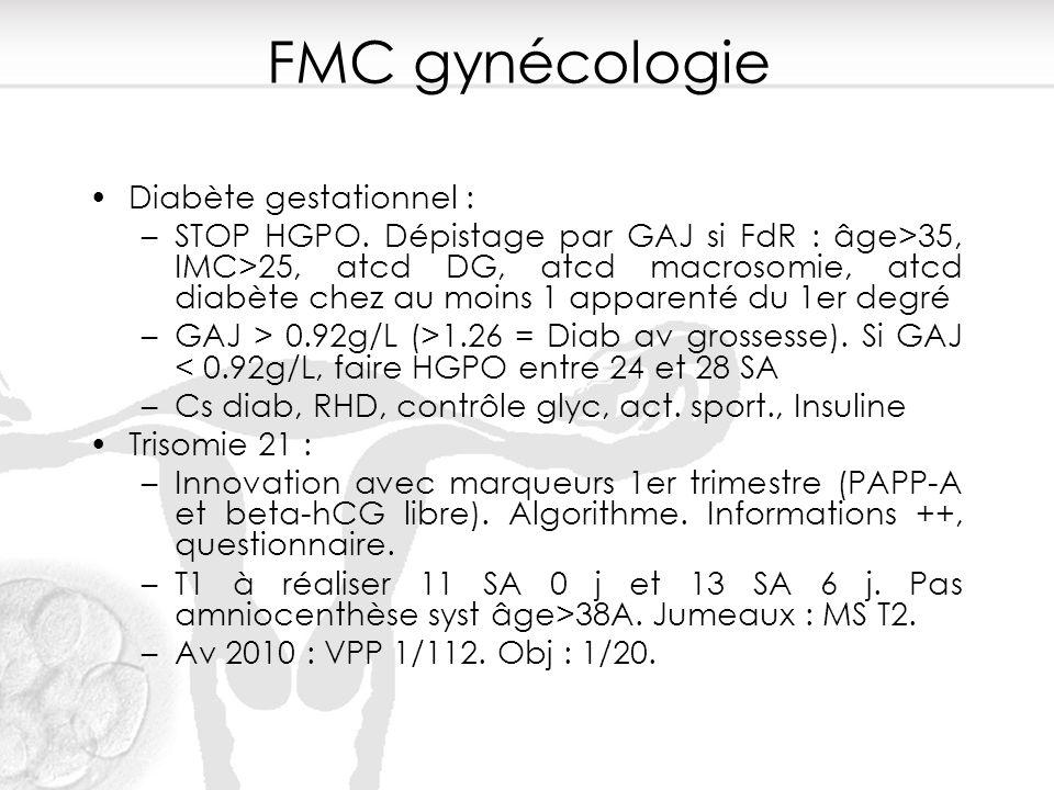 FMC gynécologie Diabète gestationnel :