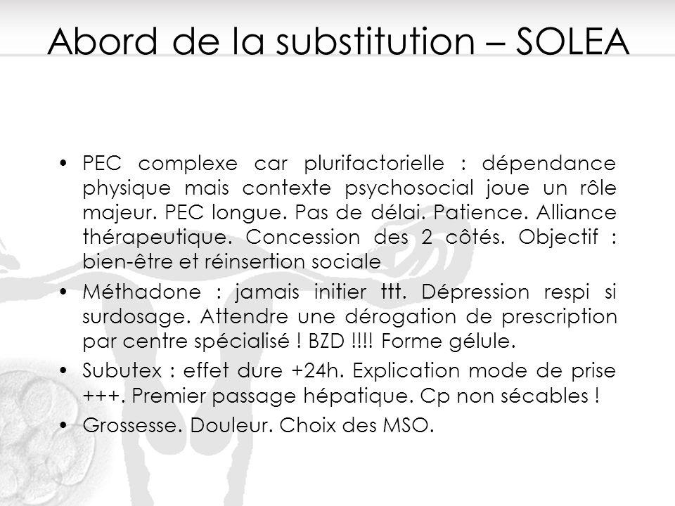 Abord de la substitution – SOLEA