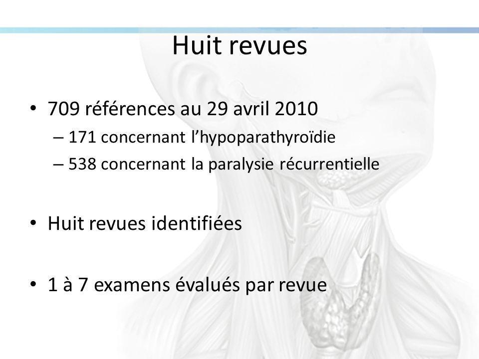 Huit revues 709 références au 29 avril 2010 Huit revues identifiées