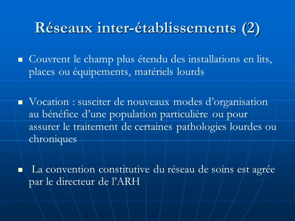 Réseaux inter-établissements (2)