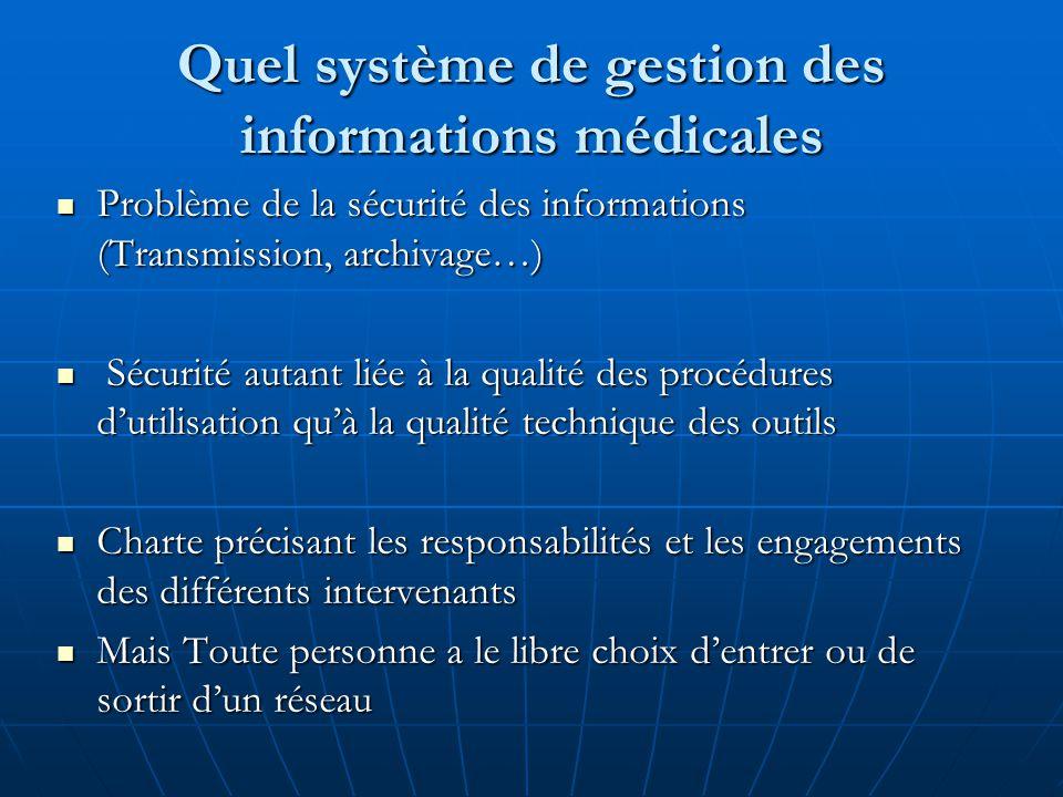 Quel système de gestion des informations médicales