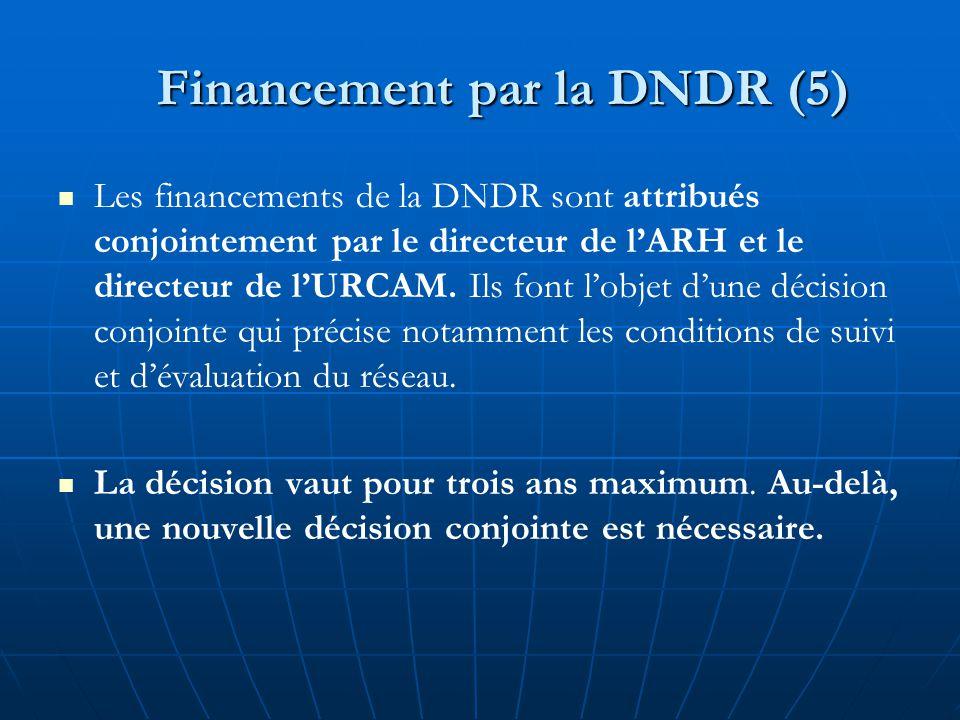 Financement par la DNDR (5)