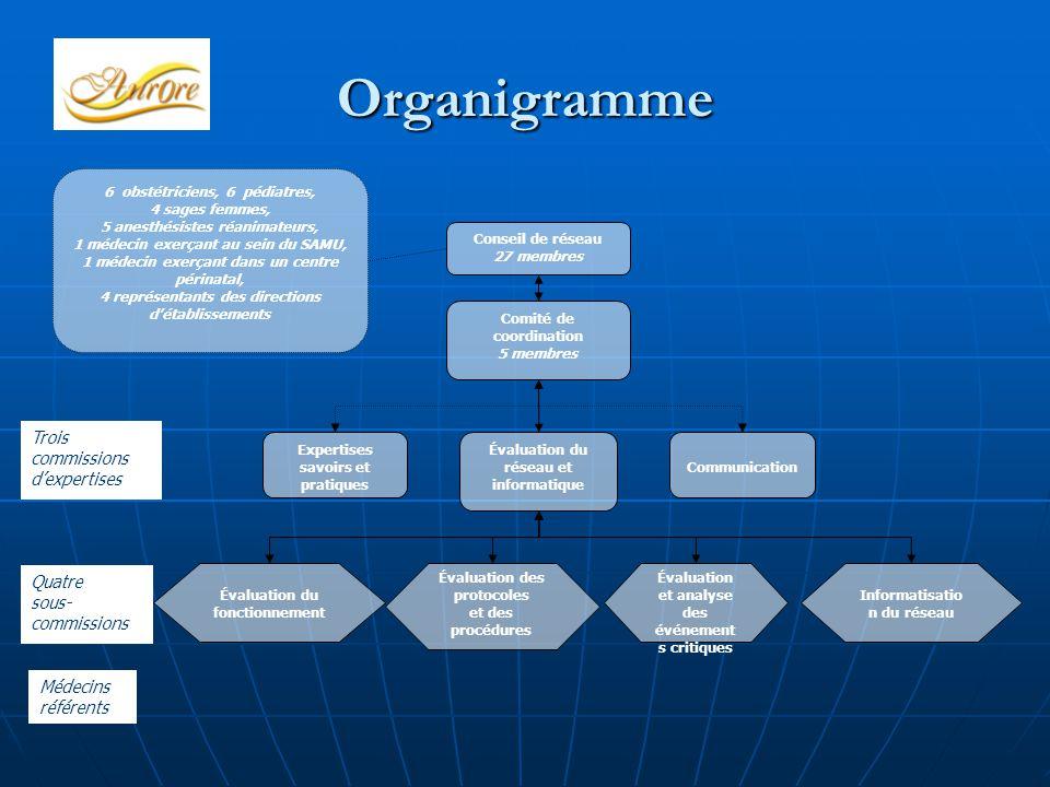 Organigramme Trois commissions d'expertises Quatre sous-commissions