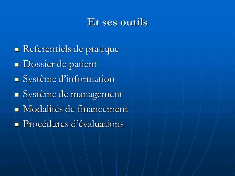 Et ses outils Referentiels de pratique Dossier de patient