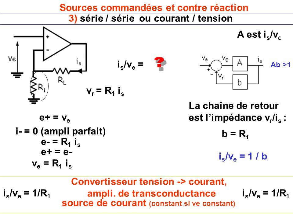 Convertisseur tension -> courant, ampli. de transconductance
