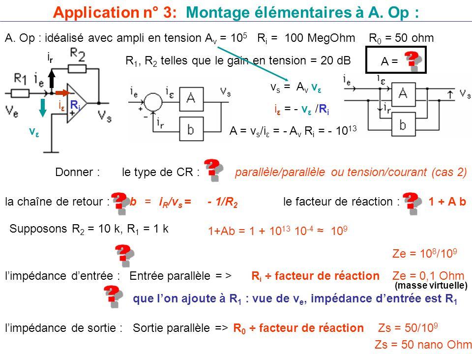 Application n° 3: Montage élémentaires à A. Op :