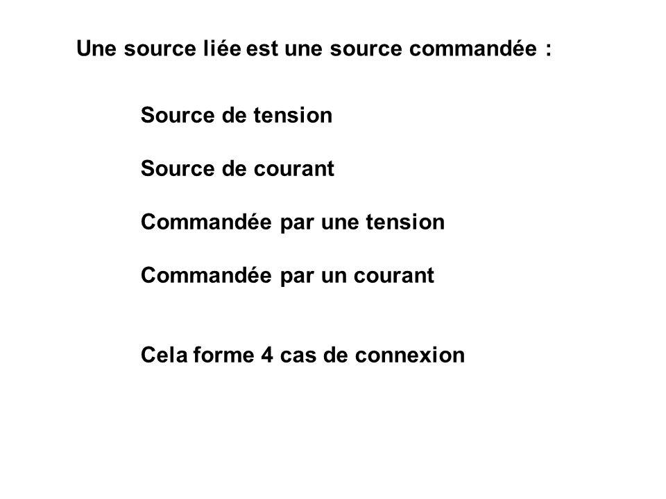 Une source liée est une source commandée :