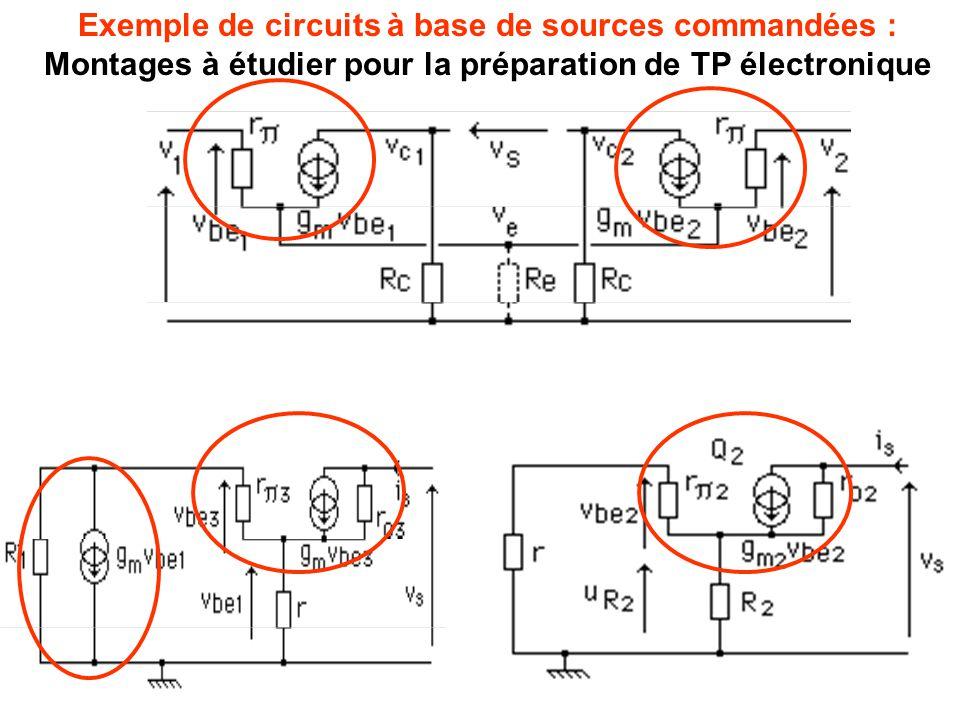 Exemple de circuits à base de sources commandées :