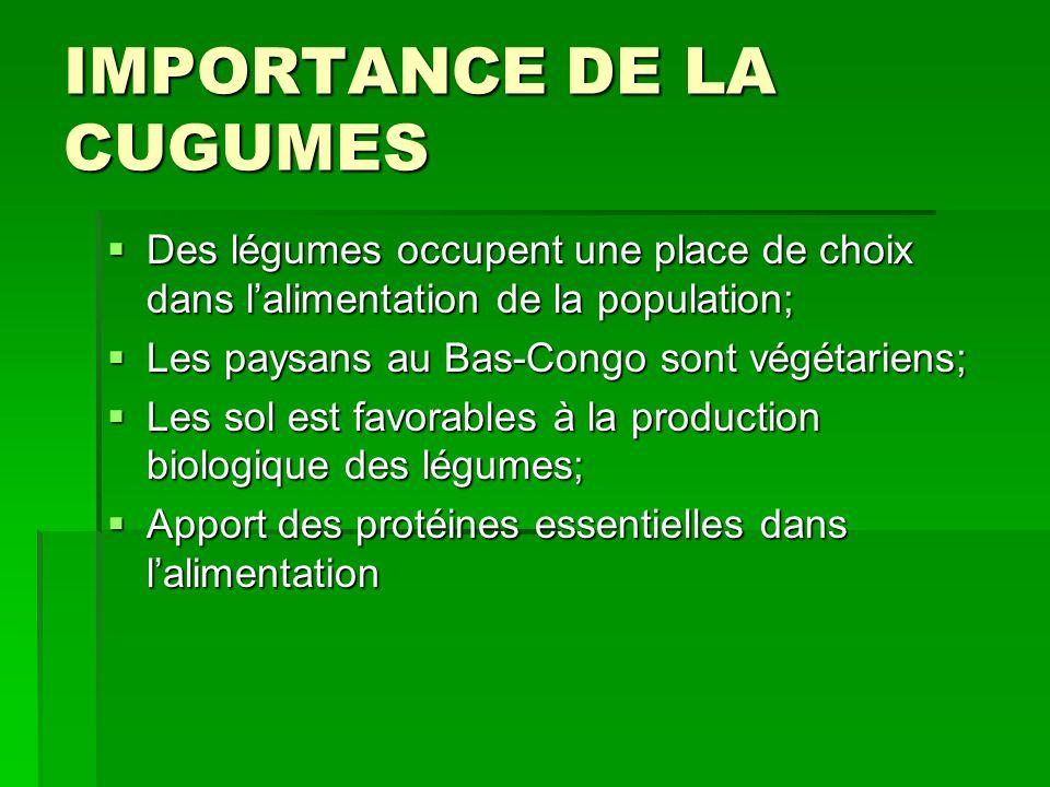 IMPORTANCE DE LA CUGUMES