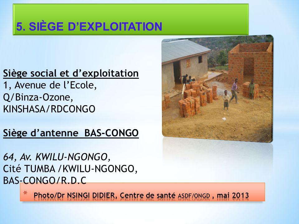 Photo/Dr NSINGI DIDIER, Centre de santé ASDF/ONGD , mai 2013