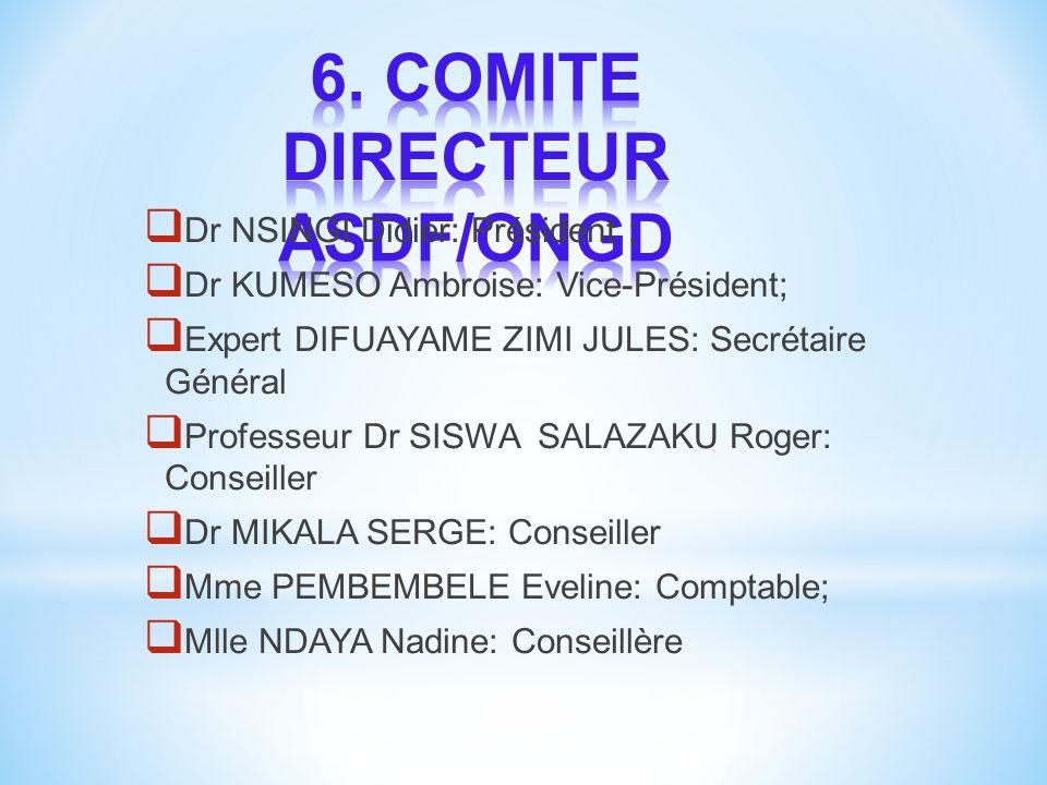 6. COMITE DIRECTEUR ASDF/ONGD