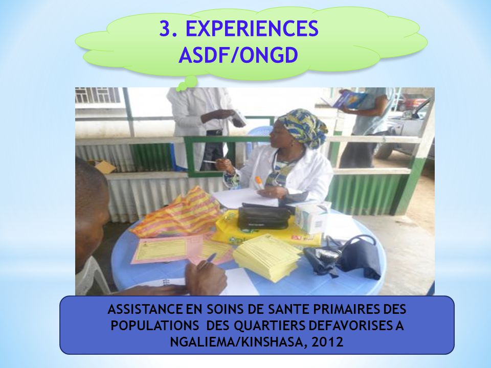 3. EXPERIENCES ASDF/ONGD