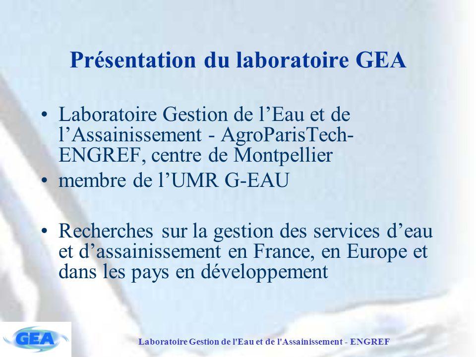 Présentation du laboratoire GEA
