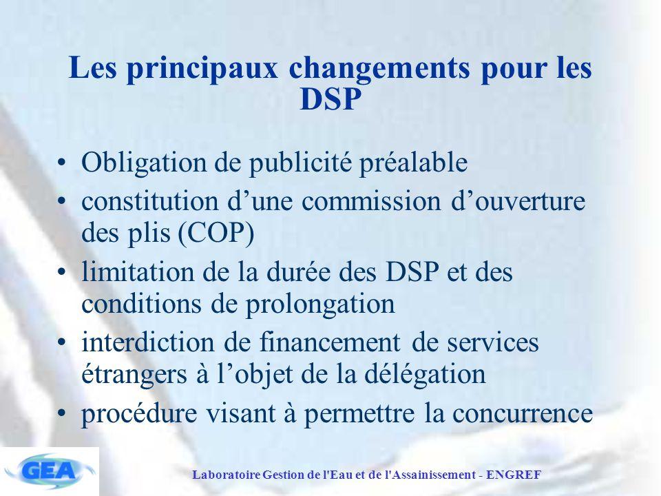 Les principaux changements pour les DSP