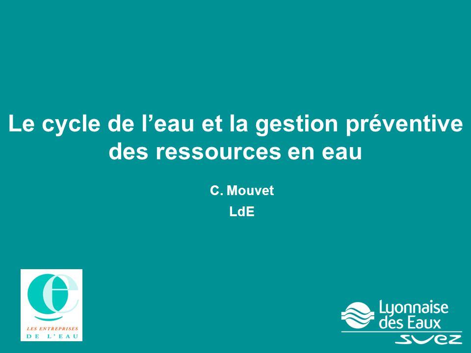 Le cycle de l'eau et la gestion préventive des ressources en eau