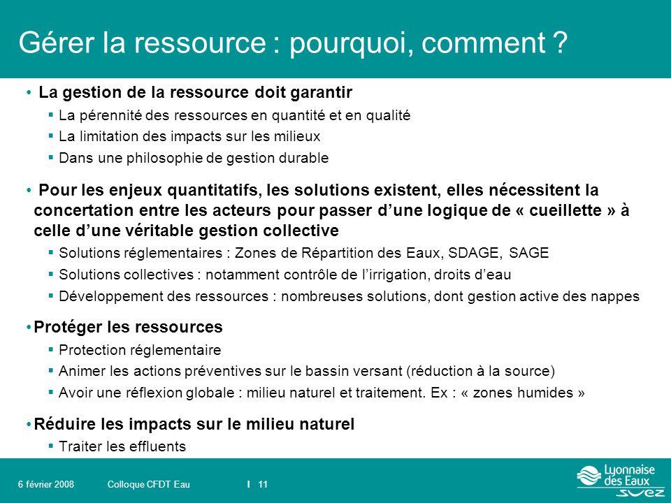 Gérer la ressource : pourquoi, comment