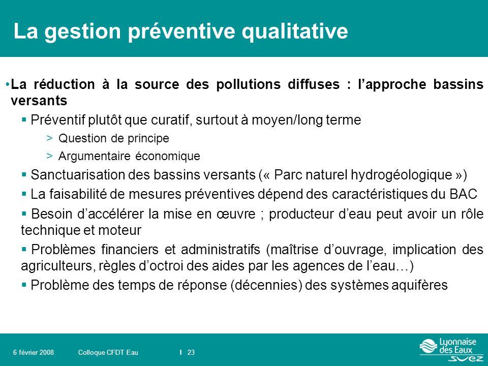 La gestion préventive qualitative