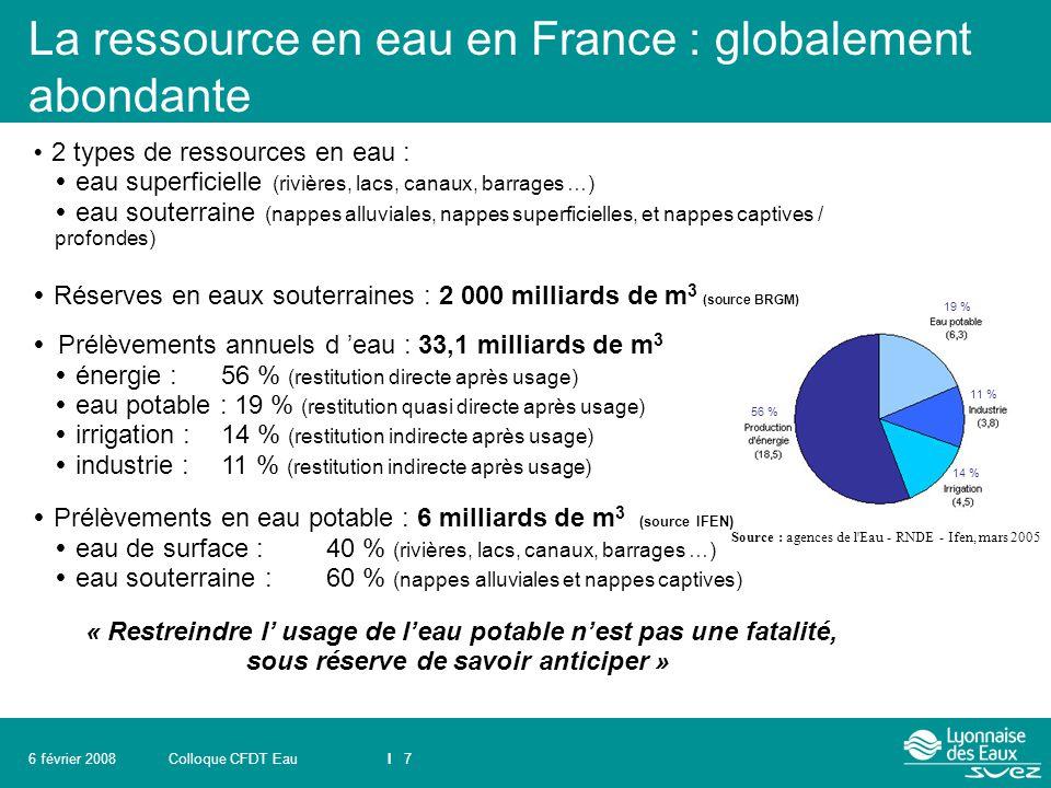 La ressource en eau en France : globalement abondante