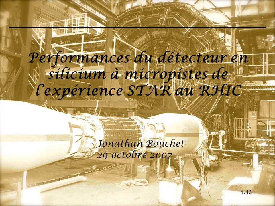Performances du détecteur en silicium à micropistes de l'expérience STAR au RHIC