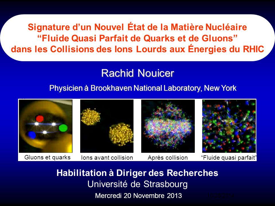 Signature d'un Nouvel État de la Matière Nucléaire Fluide Quasi Parfait de Quarks et de Gluons