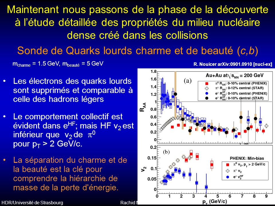 Sonde de Quarks lourds charme et de beauté (c,b)