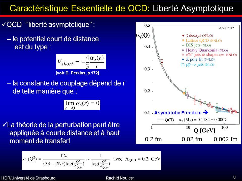 Caractéristique Essentielle de QCD: Liberté Asymptotique