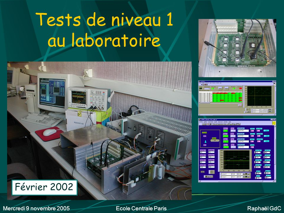 Tests de niveau 1 au laboratoire