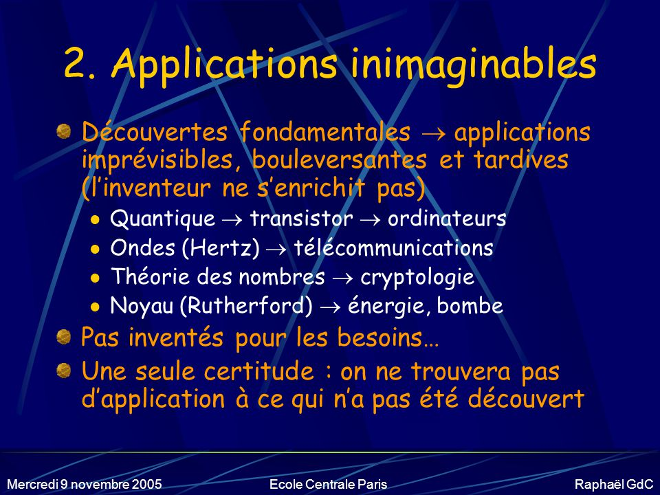 2. Applications inimaginables