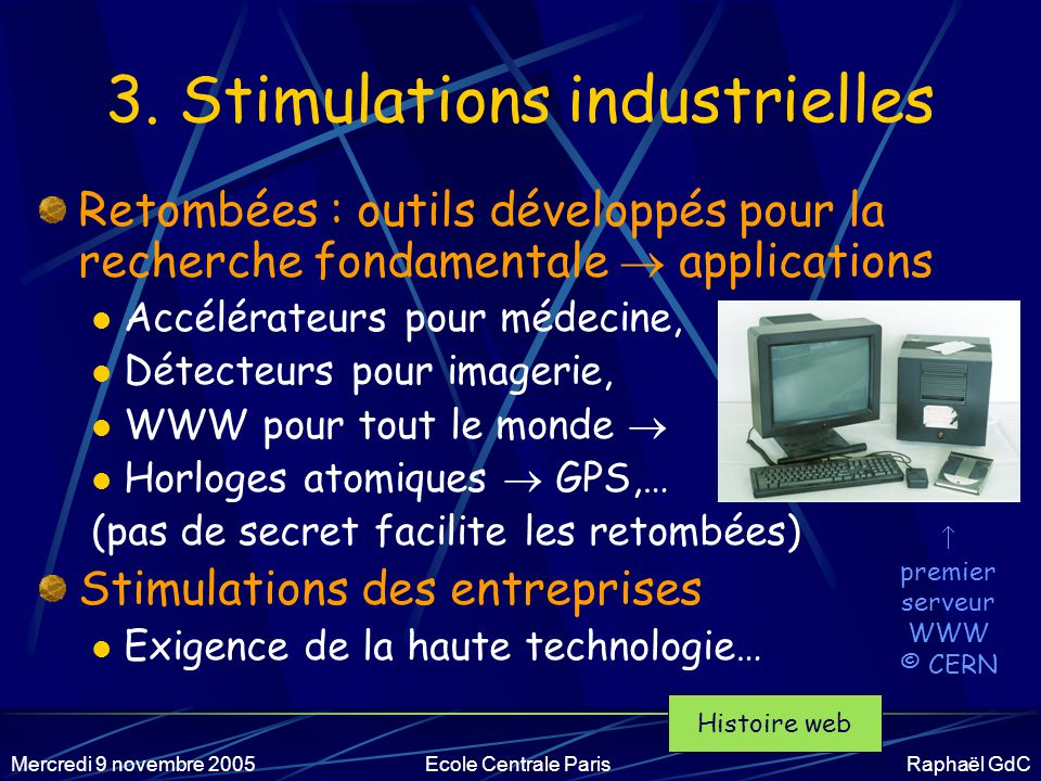 3. Stimulations industrielles
