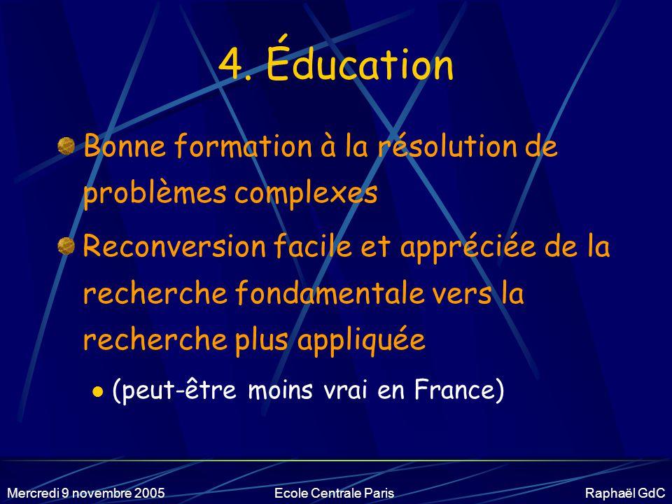 4. Éducation Bonne formation à la résolution de problèmes complexes