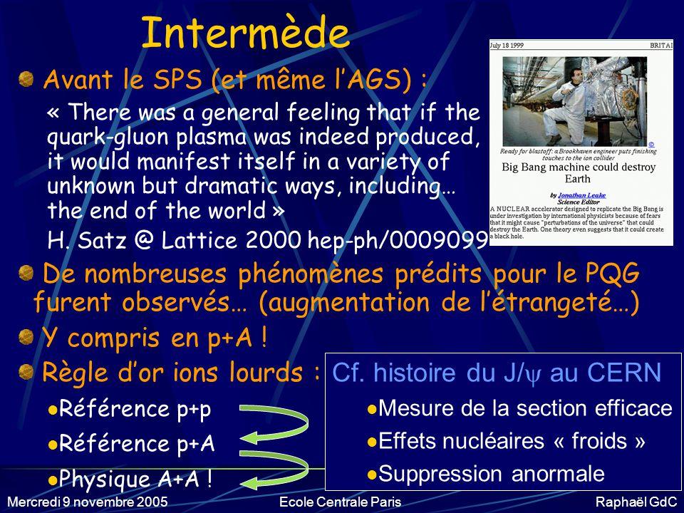 Intermède Avant le SPS (et même l'AGS) :