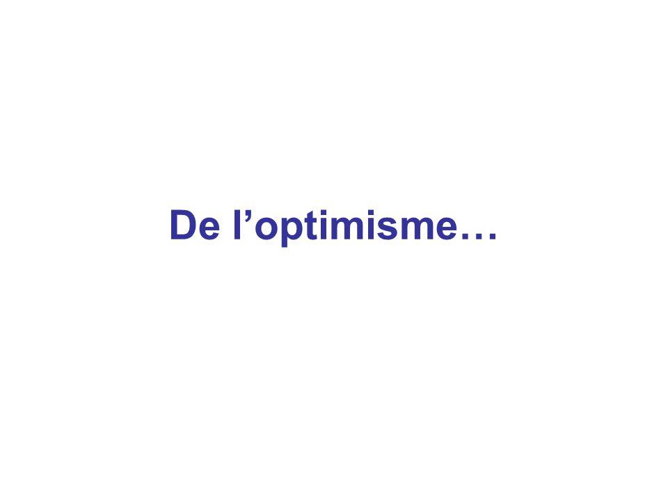 De l'optimisme…