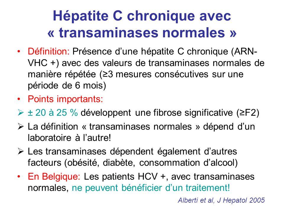 Hépatite C chronique avec « transaminases normales »