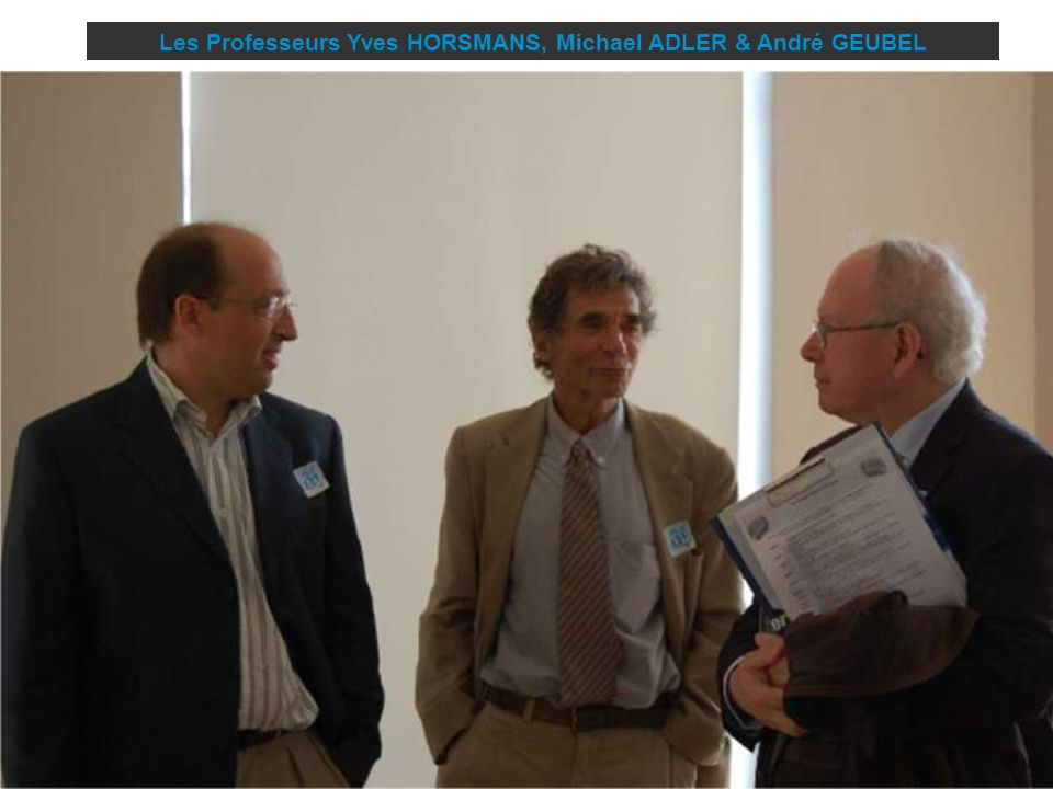Les Professeurs Yves HORSMANS, Michael ADLER & André GEUBEL