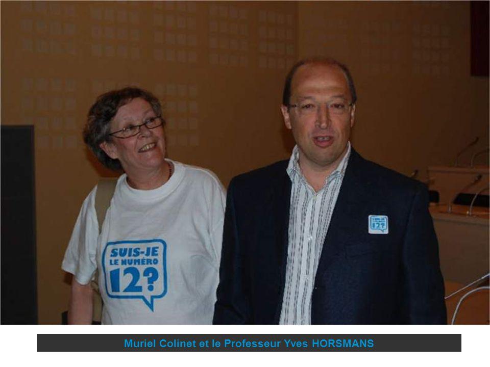 Muriel Colinet et le Professeur Yves HORSMANS