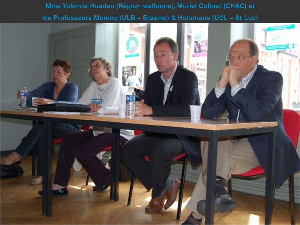 Mme Yolande Husden (Région wallonne), Muriel Colinet (CHAC) et